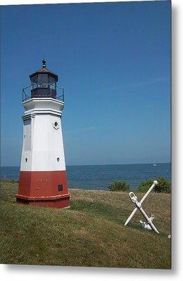Vermillion Ohio Lighthouse Metal Print by Gordon Wendling