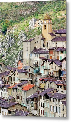 Vertical Panorama Of Saorge Metal Print by Alexandre Fundone