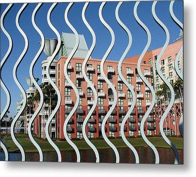 Vertical Waves Metal Print