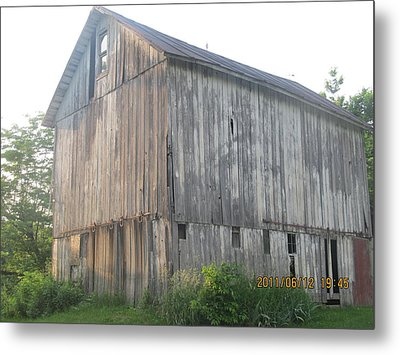 Metal Print featuring the photograph Very Old Barn by Tina M Wenger