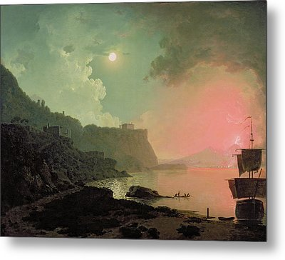 Vesuvius From Posillipo Metal Print by Joseph Wright of Derby