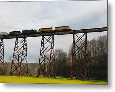 Viaduct Series-spring Metal Print by Cheryl Helms