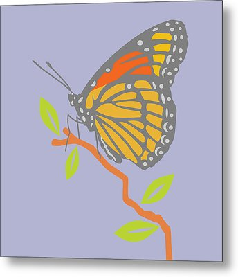 Viceroy Butterfly Metal Print by Mary Ogle