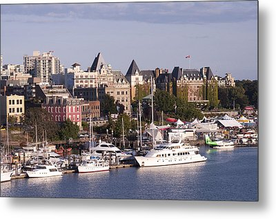 Victoria B.c. Cityscape Metal Print by MaryJane Armstrong