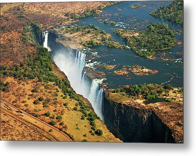 Victoria Falls, Zambia Metal Print by © Pascal Boegli