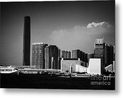 Victoria Harbour View Of Kowloon Tsim Sha Tsui Skyline Including Star Ferry Terminal Hong Kong Metal Print by Joe Fox