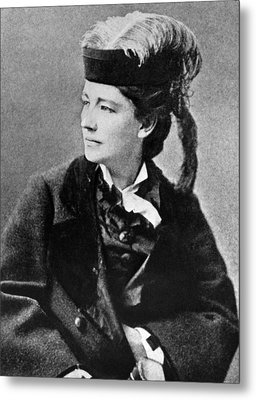 Victoria Woodhull 1838-1927, Early Metal Print by Everett