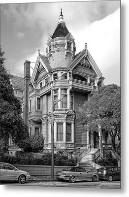 Victorian Haas Lilienthal House In San Francisco Metal Print by Daniel Hagerman