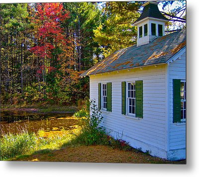 Victorian Shed In Fall 5 Metal Print