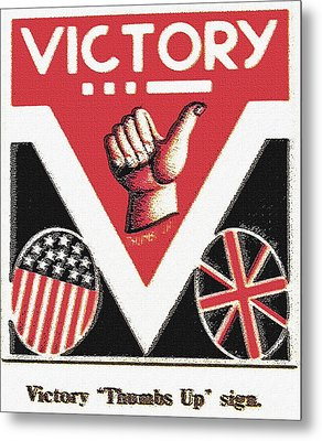 Victory Sign Metal Print by Steve Ohlsen