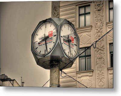 Vienna Time Metal Print by Barry R Jones Jr