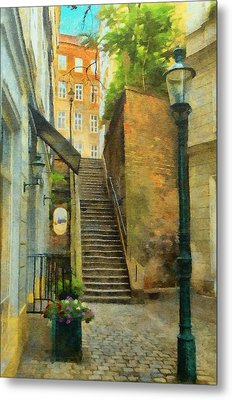 Viennese Side Street Metal Print by Jeff Kolker