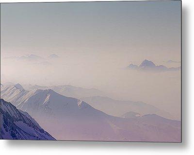 View Across Chamonix Valley Metal Print by Ginny Battson