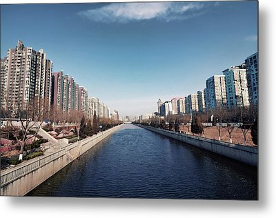 View Down Canal Metal Print by Andy Brandl