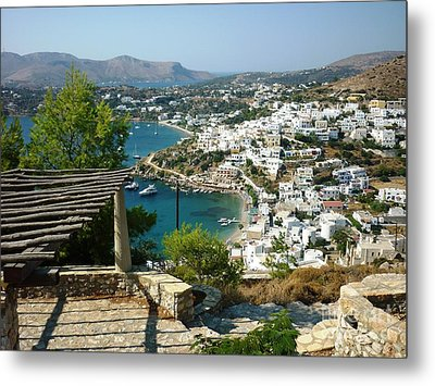 View From A Castle Metal Print by Therese Alcorn