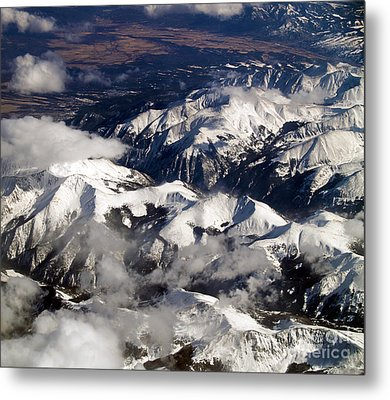 View From Above Iv Metal Print by Patricia Griffin Brett