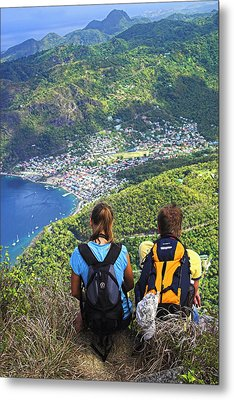 Metal Print featuring the photograph View From Petit Piton- St Lucia  by Chester Williams