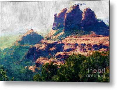 View From Schnebly Hill Metal Print by Julie Lueders