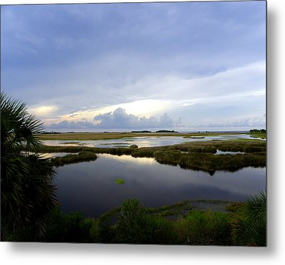 View From St. Marks Lighthouse Metal Print by Judy Wanamaker