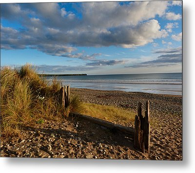 View From The Dunes At Tramore. Metal Print by Debra Collins