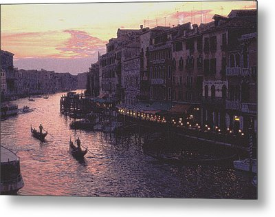 View From The Rialto Venice Metal Print