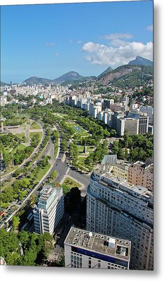View Of Aterro Do Flamengo Metal Print by Ruy Barbosa Pinto