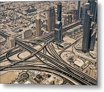 View Of Burj Khalifa Metal Print by Luc V. de Zeeuw