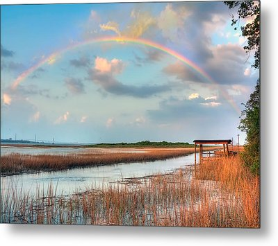 View Of Charleston Rainbow  Metal Print by Jenny Ellen Photography