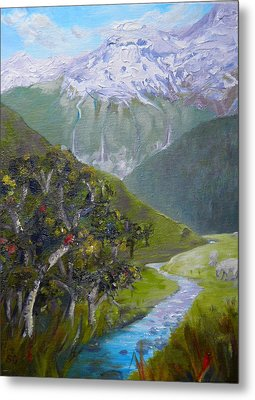 View Of Chinamans Bluff Nz Metal Print