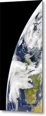 View Of Earth From Space Showing Metal Print by Stocktrek Images