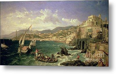 View Of Genoa Metal Print by William Parrott
