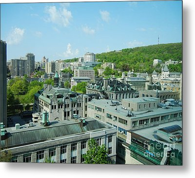 View Of Montreal  From Royal Victoria College Metal Print by Reb Frost