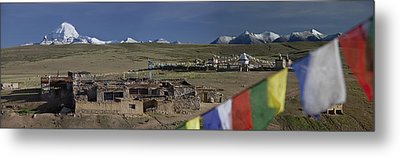 View Of Mount Kailash From Chiu Metal Print by Phil Borges