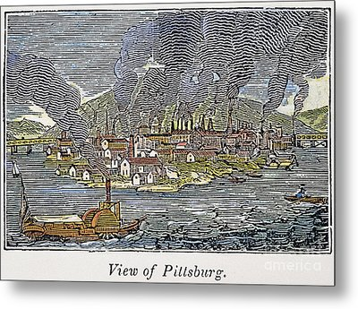 View Of Pittsburgh, 1836 Metal Print by Granger