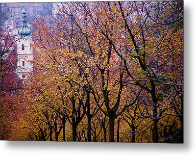 View Of Prague From Mala Strana Park Metal Print by Axiom Photographic