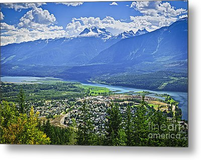 View Of Revelstoke In British Columbia Metal Print by Elena Elisseeva