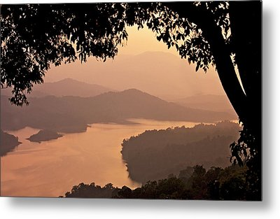 View Of Sharavathi River Metal Print by Amit R