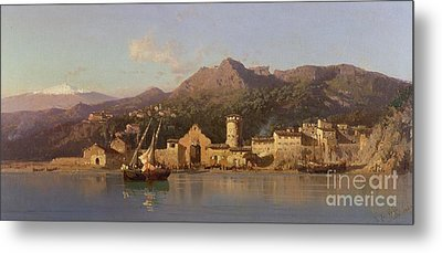 View Of Taormina Sicily Metal Print by Alessandro la Volpe