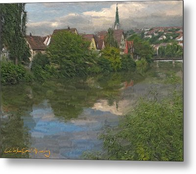View Of The Cathedral In Rottenburg On Neckar Metal Print by Nikolay Vakatov