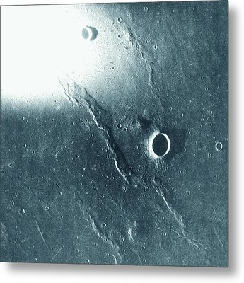 View Of The Landscape Of The Moon Metal Print by Stockbyte