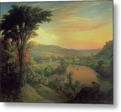 View Of The Mohawk Near Little Falls Metal Print
