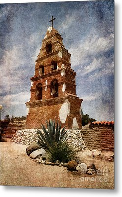 View Of The San Miguel Bell Tower Metal Print