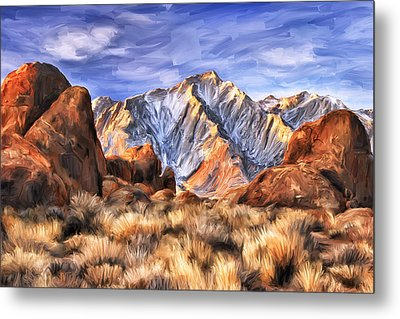 View Of The Sierras Metal Print by Dominic Piperata