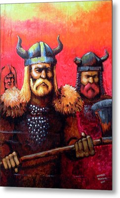 Vikings Metal Print by Edzel marvez Rendal