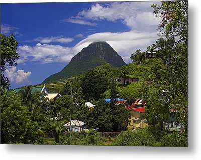 Metal Print featuring the photograph Village Of Choiseul- St Lucia by Chester Williams