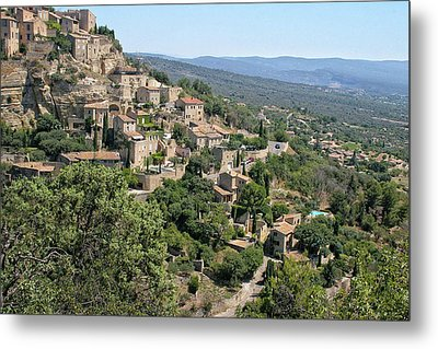 Village On A Hillside Metal Print by Sandra Anderson