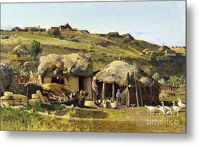 Village On River Don Metal Print by Pg Reproductions
