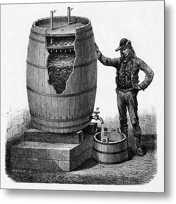 Vinegar Production, 19th Century Metal Print by Cci Archives
