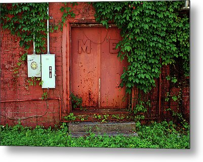 Metal Print featuring the photograph Vines Block The Door by Paul Mashburn