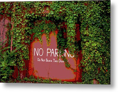 Metal Print featuring the photograph Vines Blocking The Door by Paul Mashburn